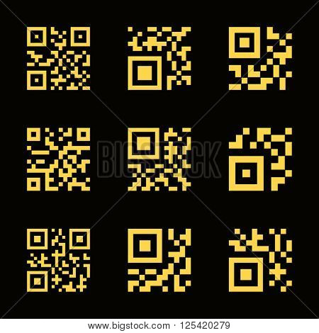 QR code icons. Vector illustration