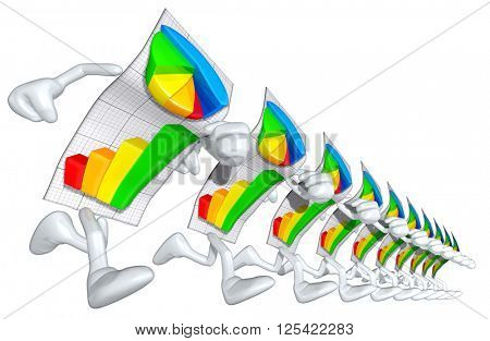 Business Report 3D Illustration