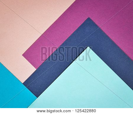 abstract collage background paper page with blue and white and red colors