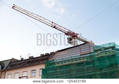 Picture of a city building under construction