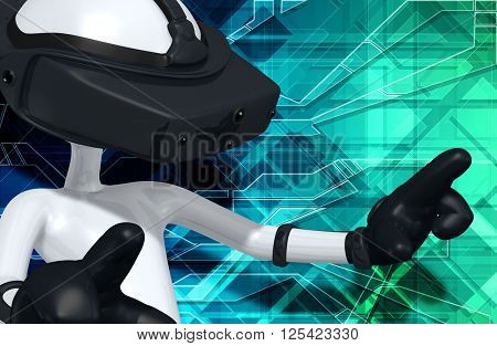 Virtual Reality VR 3D Illustration