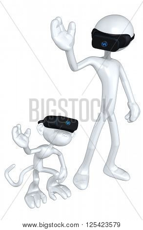 Virtual Reality VR Monkey See Monkey Do