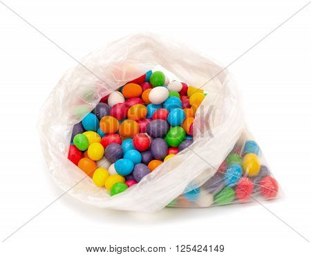 Plastic Bag With Multicolored Sweet Candy