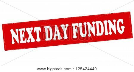 Rubber stamp with text next day funding inside vector illustration