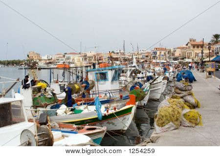 Picturesque Greek Port Aegina Island