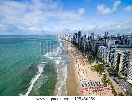 Aerial View of a Beach, Recife, Pernambuco, Brazil