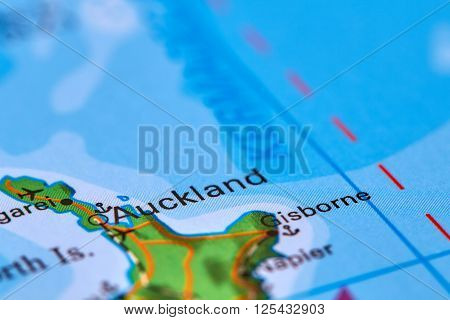 Auckland In New Zealand On The Map