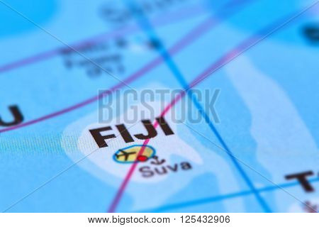Fiji Island On The Map