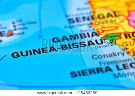 Guinea-bissau On The Map