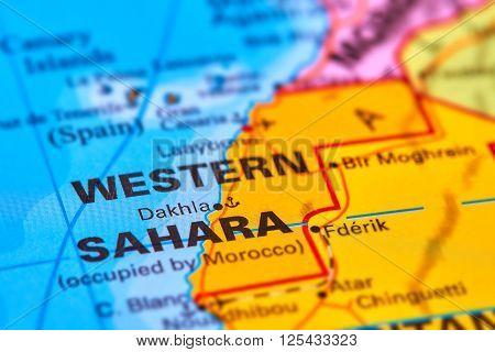 Western Sahara On The Map