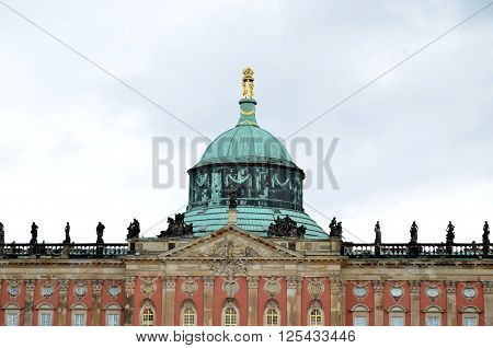 castle sansscouci in potsdam germany during spring