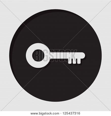 information icon - dark circle with white key and shadow