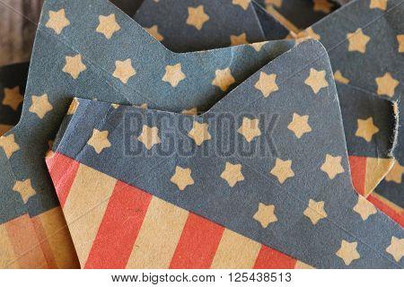 American flag vintage paper ephemera stars and stripes