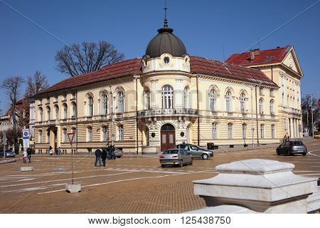 SOFIA, BULGARIA - MARCH 5, 2016: View to the building of Bulgarian Academy of Sciences.The building was completed in 1892 by design of architect Hermann Mayer