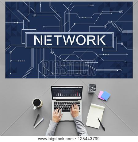 Network Social System Computer Connection Web Concept