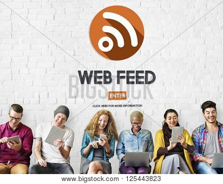 Web Feed Hashtag Internet Content Digital Media Concept