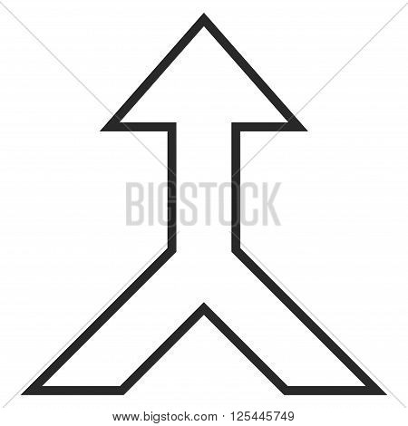 Combine Arrow Up vector icon. Style is contour icon symbol, gray color, white background.