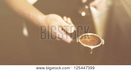 Barista Coffee Brewing Grind Professional Cafe Concept