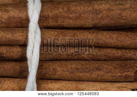 Close Up View Of Cinnamon Stick Bundle