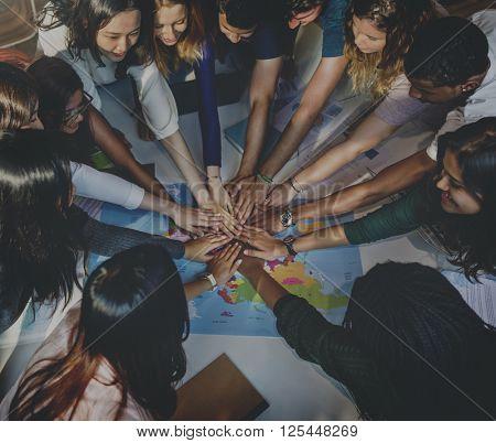 Classmate Solidarity Team Group Community Concept