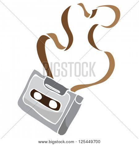 audio cassette cartoon