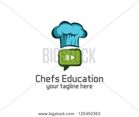 Chef logo design vector template. Chef hat symbol vector . cook design vector. Simple clean design chef logo vector.