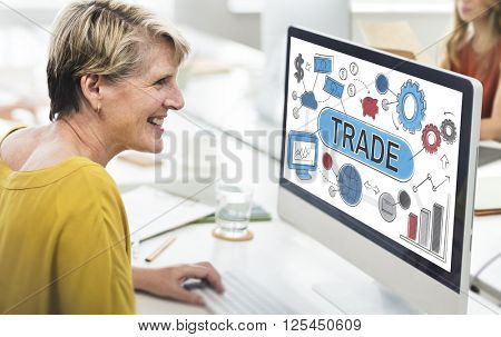 Trade Swap Deal Exchange Merchandise Commerce Concept