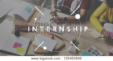Internship Management Trainee Concept