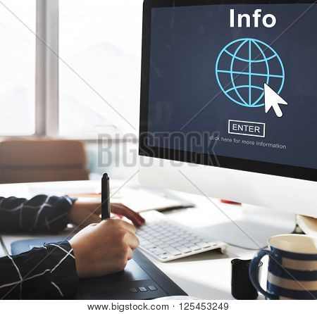 Info Facts Details Graphics Interface Concept