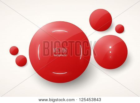 round red modern glossy placeholders eps10 background