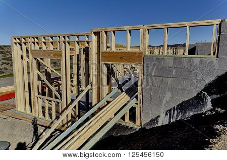 New Home Construction Wood Frame