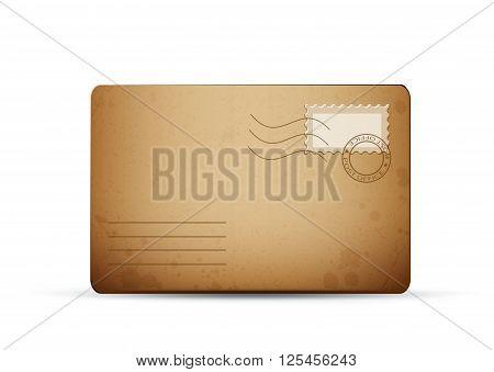 vector of an vintage old envelope card eps10 illustration