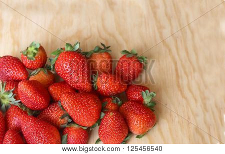 red and juicy strawberries packed for export, first quality