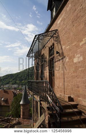 Architecture Detail, Heildelberg Town And Red Roofs, Heidelberg, Germany