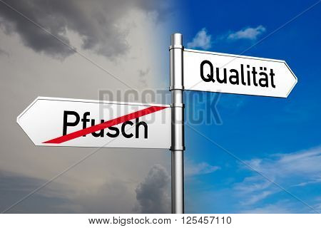 Signs with German word