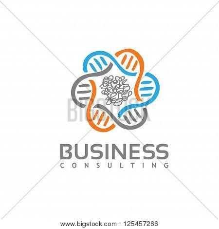 modern concept DNA , disease lab vector logo