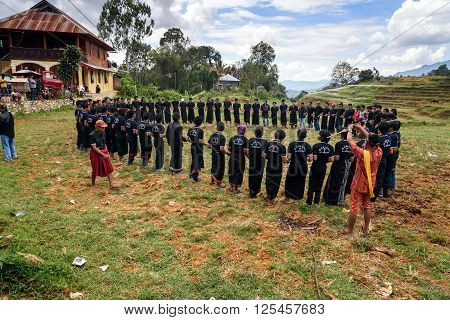 Ma'badong A Ceremonial Dance In Tana Toraja/