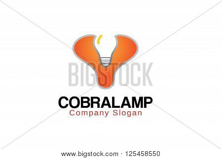 Cobra Lamp Creative And Symbolic Logo Design Illustration