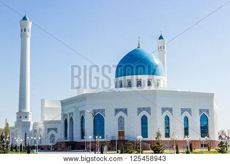 White mosque Minor in Tashkent Uzbekistan 2016 March