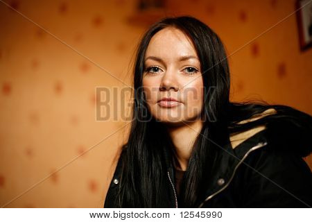Ethnic brunette woman
