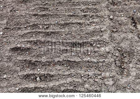 Plowed Ground Of Vegetable Garden
