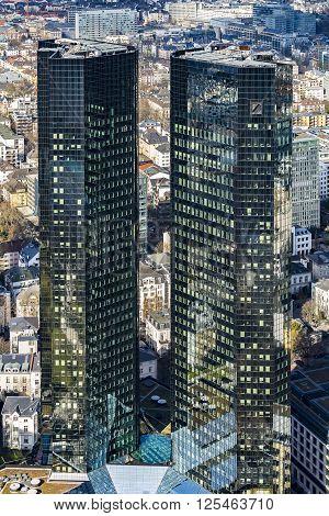 View Of  Deutsche Bank Twin Towers