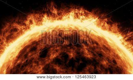 Blazing Sun On A Dark Backgrounds