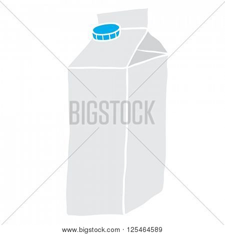 freehand drawn cartoon milk carton illustration