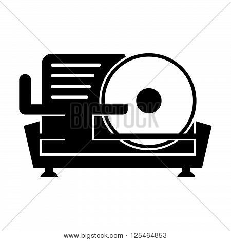 Meat slicer ( shade picture ) on white background