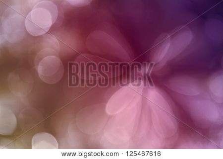 Colourful Sweet Pink Spark And Blow Abstract Spring Blossom Background