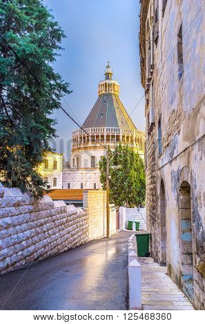 The Basilica of Annunciation is the biggest church of the Middle East and the main pilgrimage place of the region Nazareth Israel.