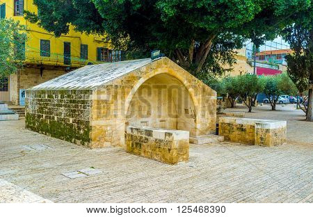 The Well where Virgin Mary took water nowadays located in the Well Square in Nazareth Israel.