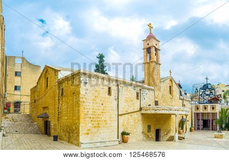 The church was built on the place where archangel St. Gabriel made the announcement to Virgin Mary Nazareth Israel.