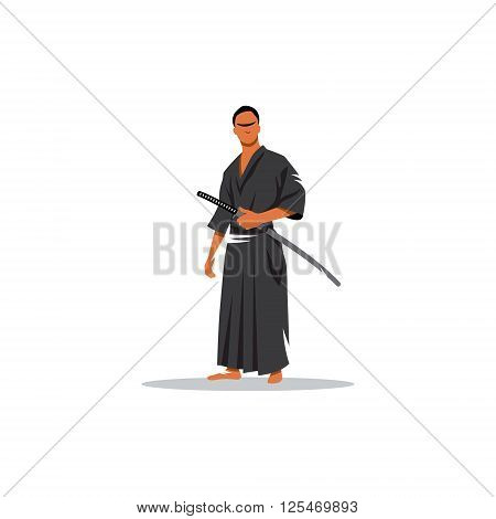 The representative of the martial arts weapons on a white background